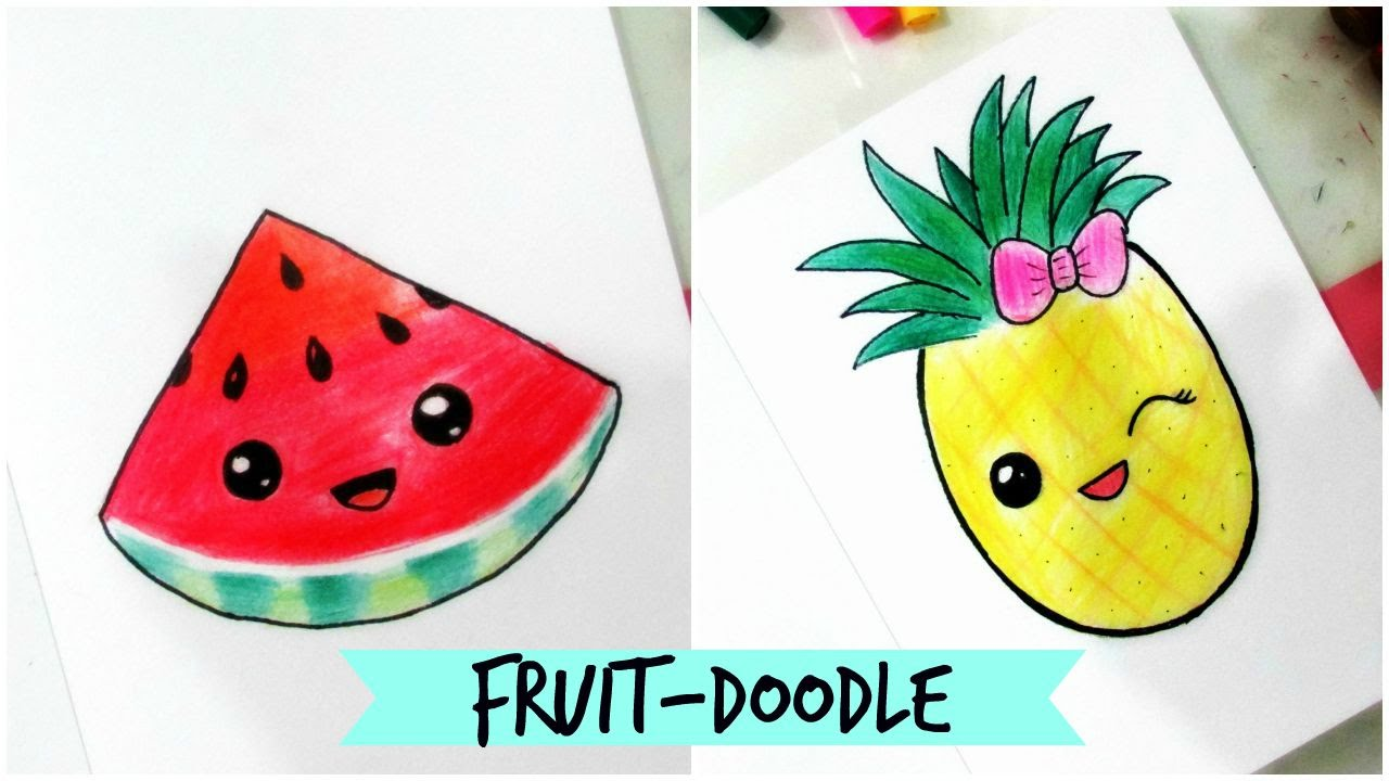 How To Draw Cute Fruit Doodle Part 2 Youtube