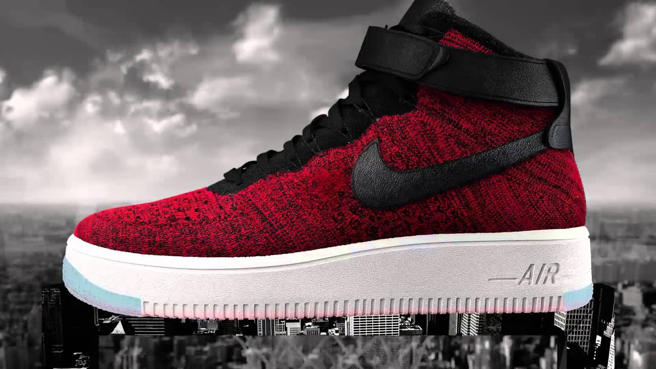 red air force 1 flyknit