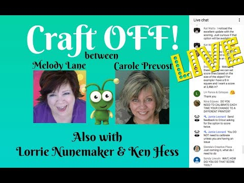 Craft OFF With Melody & Carole with the help of Lorrie Nunemaker & Ken's Kreations