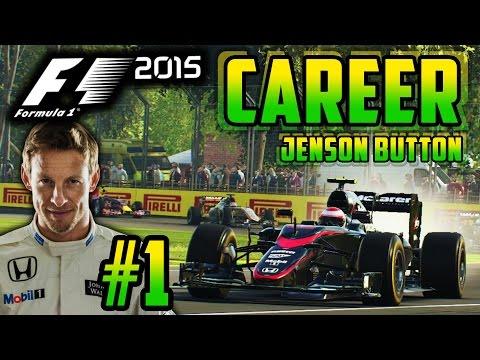 F1 2015 JENSON BUTTON CAREER MODE PART 1: AUSTRALIA