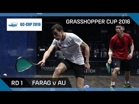 Squash: Farag v Au - Grasshopper Cup 2016 - Rd 1 Highlights