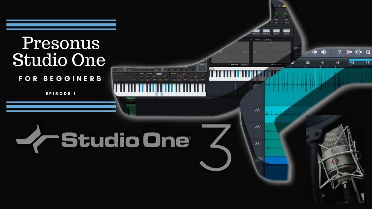 Studio one 2 free presonus getting started tutorial demo youtube.