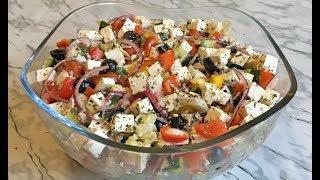 Салат Греческий с Пекинской Капустой и Брынзой Вкусно и Полезно!!! / Греческий Салат / Greek Salad