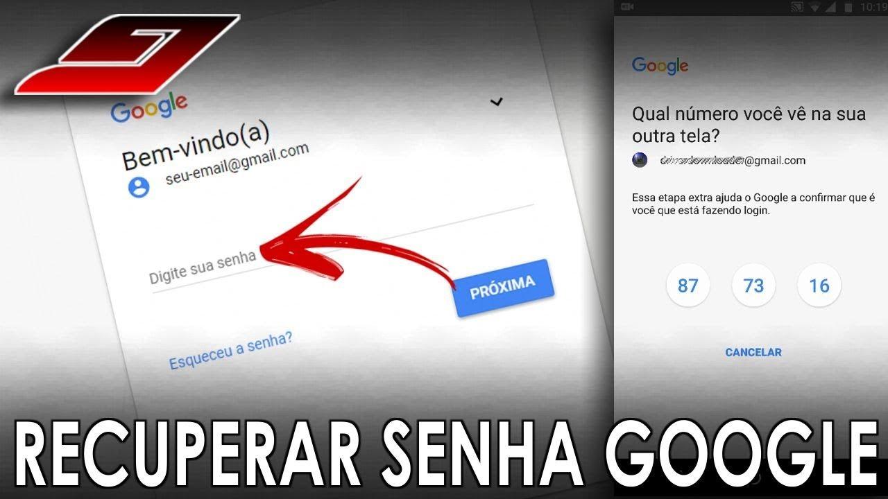 4555a6f06a Como recuperar senha do Gmail (E-mail do Google)   Guajenet - YouTube