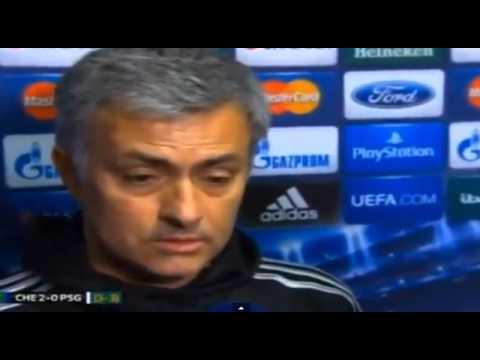 Chelsea 2-0 PSG - Jose Mourinho Interview (3-3) 08/04/14