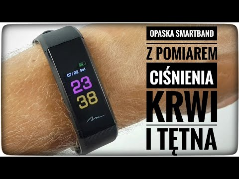OPASKA TYPU SMARTBAND OLED ACTIVE-BAND COLOR MT859 MEDIA-TECH UNBOXING