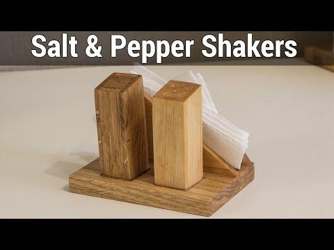 Wooden Salt & Pepper Shakers | Деревянная солонка и перечница