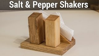 Wooden Salt & Pepper Shakers   Деревянная солонка и перечница