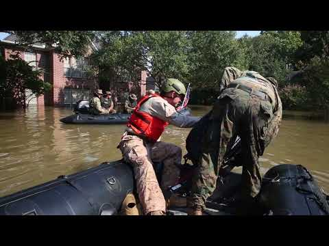 B-Roll package: 4th Reconnaissance Marines support rescue efforts