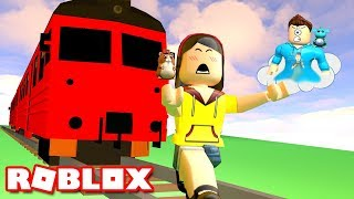 BE CRUSHED BY A SPEEDING TRAIN IN ROBLOX DEATHRUN! | MicroGuardian
