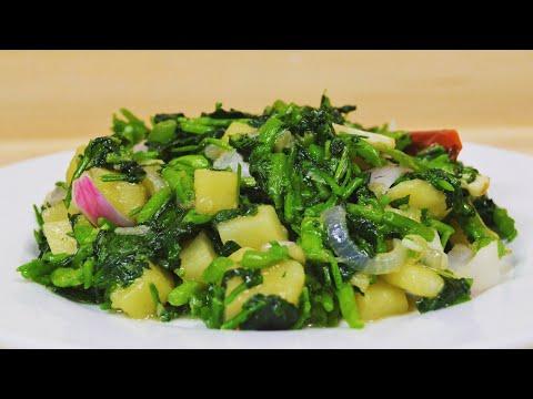 [mauritian-cuisine]-sauteed-watercress-with-potato-(vegan)- -sauté-cresson