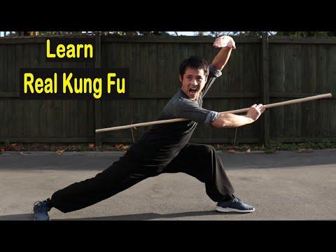 Shaolin Kung Fu wushu fundamental bo staff form for beginners tutorial