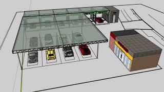 셀프세차장 창업 , 시공 전 3D 도면으로 구현해보자
