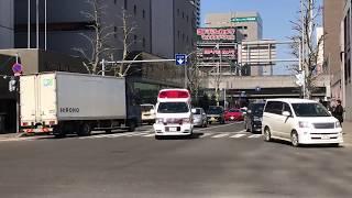 【札幌市消防局】厚別消防署厚別西出張所 厚別西5(高規格救急車) 緊急走行(イエルプサイレン吹鳴)