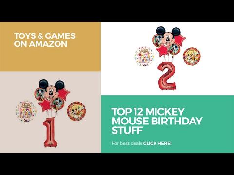 Top 12 Mickey Mouse Birthday Stuff // Toys & Games On Amazon