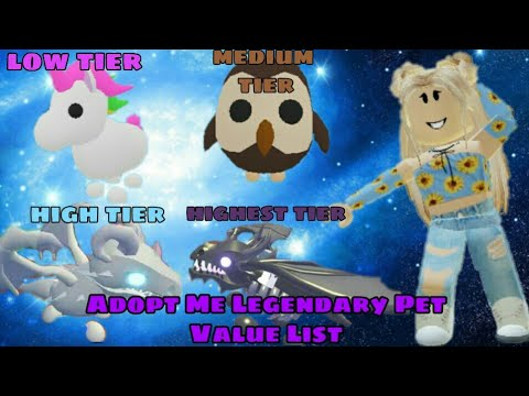 Adopt Me Legendary Pet Value List Youtube