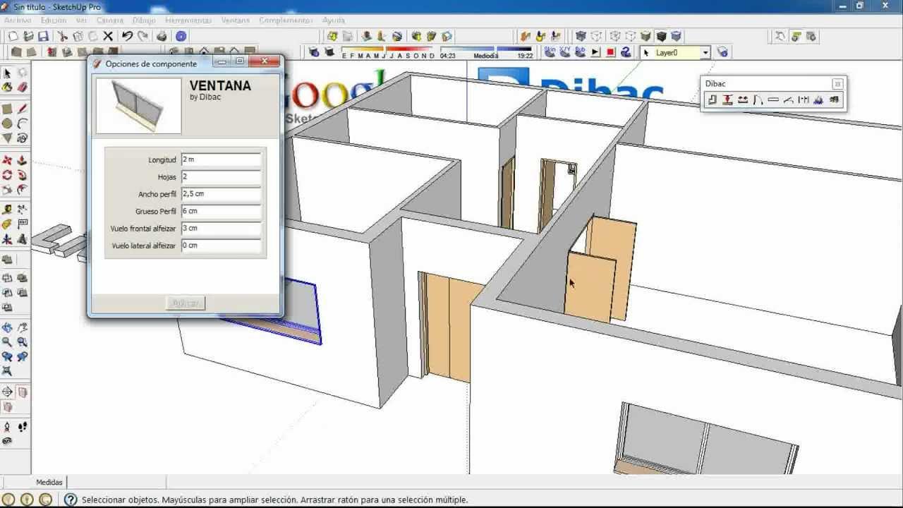 3 4 Dibac Cad 2d 3d Google Sketchup Plugin Youtube