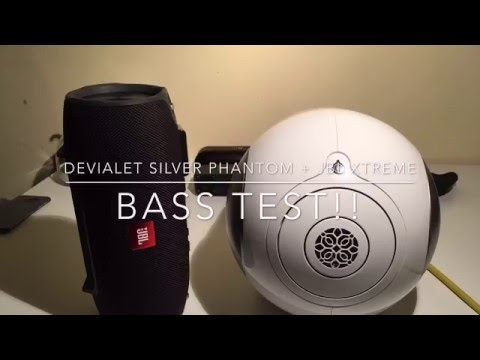 Devialet Silver Phantom + JBL Xtreme || Basstest!!