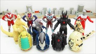 ULTRA EGG  Ultraman Ginga Tiga Seven ULTRA HEROES  Redking Golza Dark Lugiel  MONSTERS   BANDAI