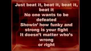 Repeat youtube video Michael Jackson-Beat it (Lyrics)