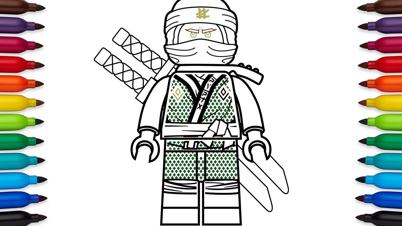 How To Draw Lego Lloyd From Ninjago Sons Of Garmadon Youtube