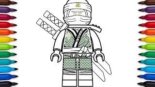 How to draw Lego Lloyd from Ninjago: Sons of Garmadon