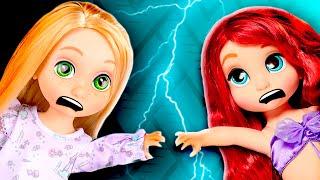😭 ¡Rapunzel, la Sirenita y Elsa bebés están CASTIGADAS SIN VERSE! │ Princesas de Disney!