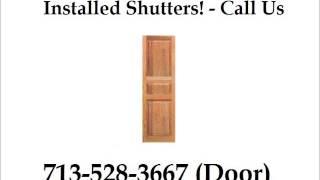 External Window Shutters Installed Houston - Houston Door Solutions - 713-528-3667 (door)