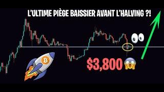 L'EFFONDREMENT DU BITCOIN ÉTAIT UN PIÈGE AVANT L'HALVING ?! - Analyse Crypto FR Altcoin - 24/03