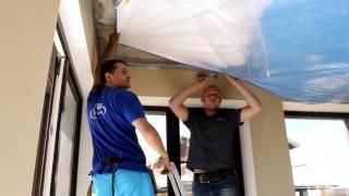 Технология установки натяжного потолка с фотопечатью. Советы от