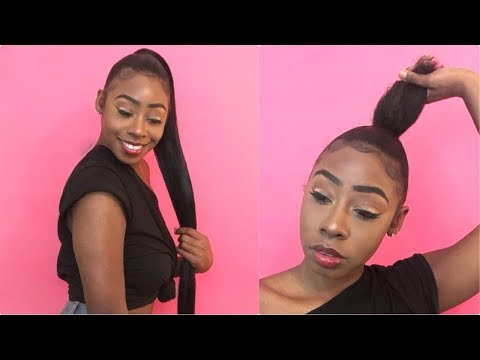 SIMPLE INVISIBLE PONYTAIL TUTORIAL