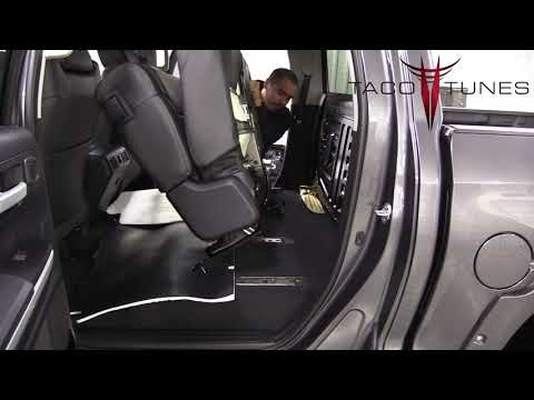 How To Install Subwoofer Box Toyota Tundra 2014-2020