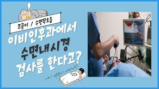 이비인후과에서 수면내시경 검사를?