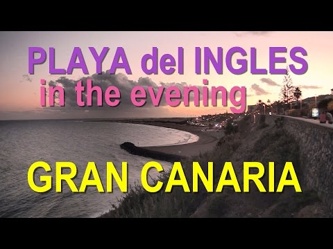 Gran Canaria - Playa del Ingles in the evening