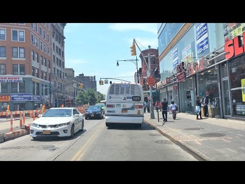 Driving Downtown - South Bronx Hub - Bronx New York City NY USA