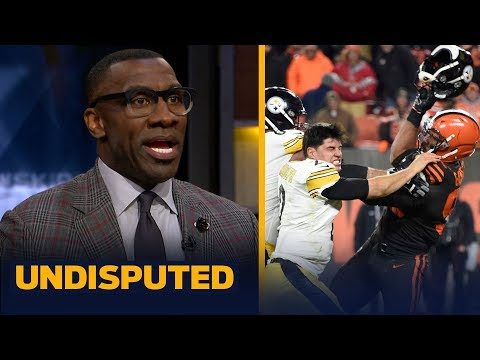 Shannon Sharpe reacts to Myles Garrett hitting Mason Rudolph with his own helmet | NFL | UNDISPUTED