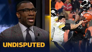 Download Shannon Sharpe reacts to Myles Garrett hitting Mason Rudolph with his own helmet | NFL | UNDISPUTED Mp3 and Videos