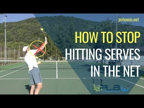 Tennis Serve: How To Stop Hitting Serves In The Net I JM Ten