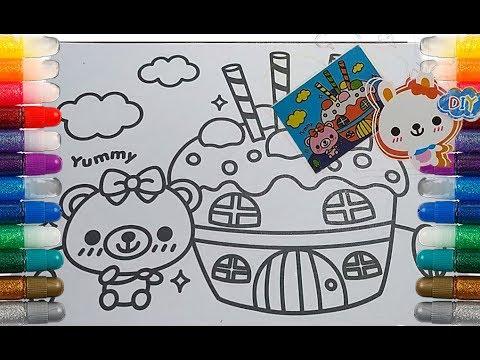 Mewarnai Kue Ulang Tahun Bahasa Inggris I Yanda Manda Kids Youtube