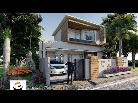 tes animasi desain fasad rumah 2 lantai - youtube