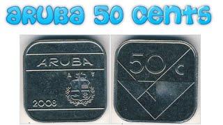 QUANTO VALE 50 CENTS ARUBA (ano 2008)