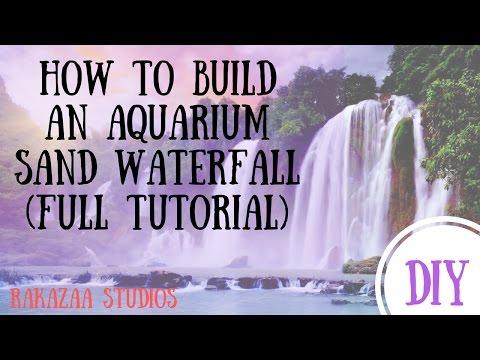 Aquarium Sand Waterfall Using Powerhead: Full construction tutorial