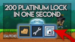 Pixel Worlds - HOW TO MAKE 200 PLATINUM LOCK IN ONE SECOND?! (GLITCH!) (PATCHED!)
