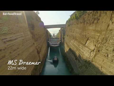 Fred. Olsen's Braemar in the Corinth Canal - Barrhead Travel