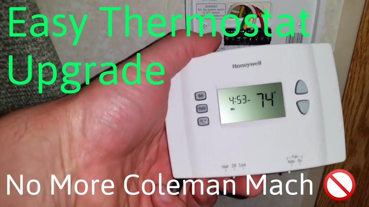 rv ac wiring diagram solar street light coleman mach thermostat upgrade for heater youtube