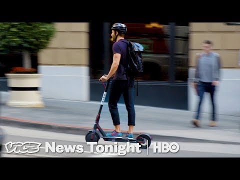 People In San Francisco Are Pissed Over Electric Scooters (HBO)