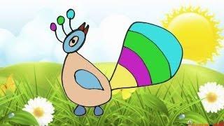 Рисуем с детьми 3-4 лет Давай нарисуем Павлина(Рисуем с детьми. Уроки рисования для малышей 3-4 лет. Рисовалки для малышей. Давай нарисуем вместе. В этом..., 2014-04-30T06:36:54.000Z)