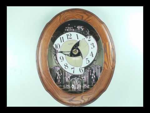 Oak Nostalgia Legend Clock by Rhythm Clocks w/ Beatles
