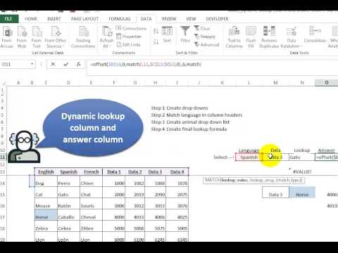 Video 00085 Dynamic Lookup Column and Answer Column