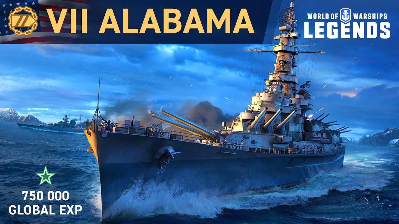 World of Warships: Legends | Battleship Alabama - YouTube